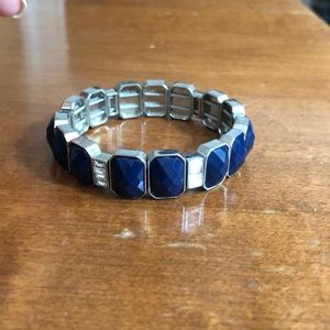 Dark blue and silver bracelet